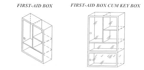 First Aid Box Cum Key Box
